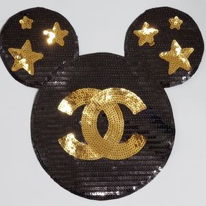 Mickey Mouse Sequin Iron On Patch